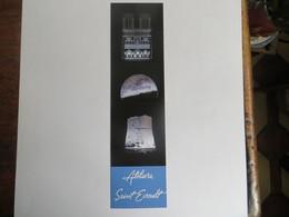 Marque Page Publicitaire Atelier D' Art Saint Evroult - Lampes Sculpturales Et Gravures Lumineuses Notre Dame De Paris - Marque-Pages