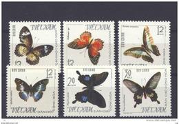 Viet-Nam Du Nord  -  1965  :  Yv  472-77  (*)   émis Sans Gomme ,  Papillon - Butterfly - Viêt-Nam