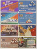 France. 8 Télécartes  1991 - 1991