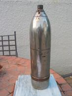 Très Gros Obus Chromé , Hauteur 30 Cm , 4515g , Période Et Origine à Déterminer - Armes Neutralisées