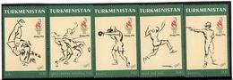 Turkmenistan.1996 SOGames Atlanta '96. 5v: 100, 300x3, 500  Michel # 60-64 - Turkménistan