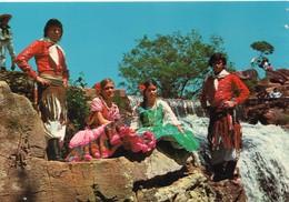 Paraguay Animée Folklore Costumes Taditionnels Salto Chololo Cascade - Paraguay