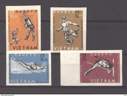 Viet-Nam Du Nord  :  Yv 345a-48a  (*)  Sport  ,  Non Dentelé - Viêt-Nam