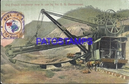 104810 PANAMA OLD FRENCH EXCAVATOR NOW IN USE BY THE US GOVERNMENT & RAILROAD POSTAL POSTCARD - Panama