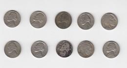 USA-5-cents-10-monnaies - Émissions Fédérales