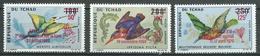 Tchad Poste Aérienne YT N°66/68 Oiseaux Surchargé Apollo XI, Apollo XII Et Apollo XIII Neuf ** - Tchad (1960-...)