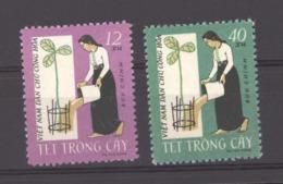 Viêt-Nam  -  Nord  :  Yv  254-55  (*)   Fleur - Flower - Viêt-Nam