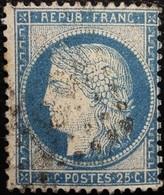 FRANCE Y&T N°60C Cérès 25c Bleu. Oblitéré Losange - 1871-1875 Cérès