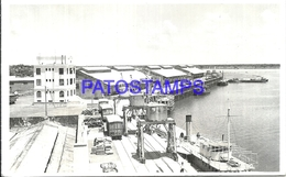 104815 PARAGUAY ASUNCION PORT PUERTO NUEVO RAILROAD TRAIN TREN POSTAL POSTCARD - Paraguay
