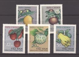 Viêt-Nam  -  Nord  :  Yv  392-96  (*)  Fruits - Viêt-Nam