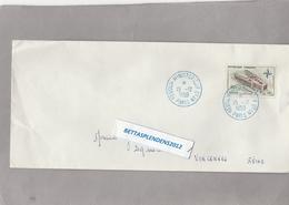 LSC 1959  - Cachet Bleu - Session Ministérielle OTAN - PARIS Sur YT 1228  OTAN - Marcophilie (Lettres)
