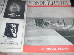 HYDRAVION LATE /PROCES PETAIN ISORNI /MONDE ILLUSTRE - Livres, BD, Revues