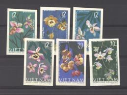 Viêt-Nam  -  Nord  :  Yv  482a-87a  (*)     Fleur - Flower  ,  Non Dentelé - Viêt-Nam