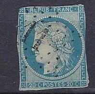 France 1870 Cérès Y&T N° 44A - 1870 Bordeaux Printing