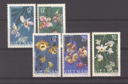 Viêt-Nam  -  Nord  :  Yv  482-87  (*)  Sauf 484   Fleur - Flower - Viêt-Nam