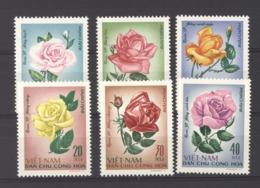 Viêt-Nam  -  Nord  :  Yv  586-91  (*)     Fleur - Flower - Viêt-Nam