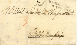 Ravensburg Vers Stuttgart 1841 Voir 2 Scan - Germania