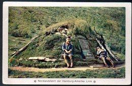 Old Postcard,Norway,Norge,Nordlandfahrt Hamburg-Amerika,Lappland Tromsö,unused - Norwegen