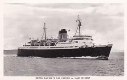 Postcard British Railways Car Carrier SS Maid Of Kent [ Shipping / Ferry Interest ] RP My Ref  B12603 - Ferries