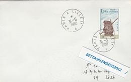 LSC 1980 - Ambulant - Cachet PARIS A LILLE  A Sur YT 2042 - Poststempel (Briefe)