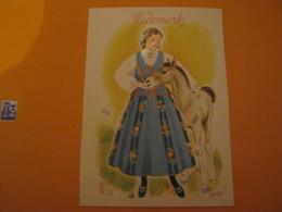 Norway -Norvège  HEDEMARK .Femme Costume Folklore , Poulain - Norvège