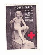 Vignette Militaire Delandre - Croix Rouge - Port Said - Erinnophilie