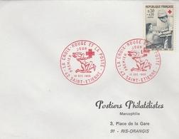 LSC 1966 - Cachet ST ETIENNE - LA CROIX ROUGE ET LA POSTE Sur YT 1509 - Marcophilie (Lettres)