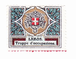 Vignette Militaire Delandre - Italie - Leros - Vignettes Militaires