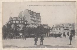 8AK4057 PARIS PLACE PEREIRE GARE DE COURCELLES LEVALLOIS 2 SCANS - Squares