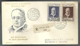 REF 50 - FDC ECCELSIA - 30° ANNIVERSARIO DEI PATTI LATERANENSI - VIAGGIATA - 25.5.1959 - FDC