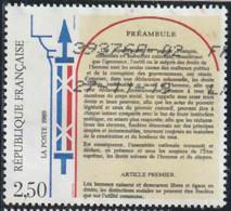 France 1989 Yv. N°2602 - Déclaration Des Droits De L'Homme Et Du Citoyen - Oblitéré - France