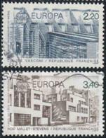 France 1987 Yv. N°2471 & 2472 - Europa - Architecture Moderne - Oblitéré - France