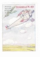 Vignette Militaire Delandre - Aviation - Escadrille N.49 Pégoud Boillot Mérairie Gilbert - Vignettes Militaires