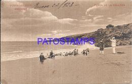 104828 URUGUAY PUNTA DEL ESTE BEACH PLAYA DE LA BALLENA POSTAL POSTCARD - Uruguay