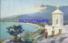 104829 URUGUAY PIRIAPOLIS ART CAPILLA SAN ANTONIO YEAR 1936 POSTAL POSTCARD - Uruguay