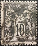 France N°103 Sage 10c. Noir Sur Lilas.Oblitéré - 1876-1878 Sage (Type I)