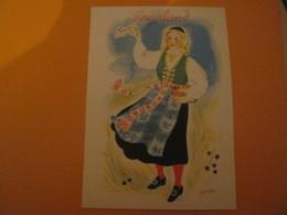 Norway -Norvège  ROGALAND .Femme Costume Folklore , - Norvège