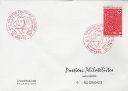 """LSC 1973 - GRASSE - Cachet """"Exposition Philatélique National Croix Rouge Française"""" Sur YT 1736 - Marcophilie (Lettres)"""