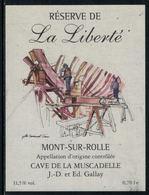 Rare // Etiquette De Vin // Bateau à Voile  // Mont-sur-Rolle, La Liberté - Bateaux à Voile & Voiliers