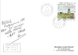 TAAF - Alfred Faure-Crozet: Lettre 39ème Mission Avec Timbre N°329 Téléphérique De Crozet - 05/11/2002 - Terres Australes Et Antarctiques Françaises (TAAF)