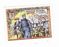 Vignette Militaire Delandre - Instituteurs Militaires D'Alsace - Dannemarie - Vignettes Militaires