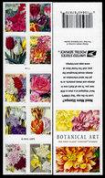 USA, 2016 Scott #5042-5051 (5051b),  Botanical Art, Single Sided Booklet Of 10.  MNH, VF - Ongebruikt