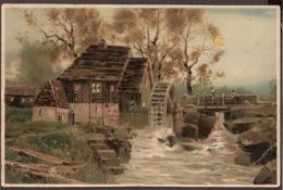 Carte Lumineuse - Hold To Light - 1906 - Moulin A L'eau, Wassermühle, Watermolen, Water Mill - Contre La Lumière