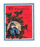 Vignette Militaire Delandre - 81ème Régiment Territorial D'infanterie - Vignettes Militaires