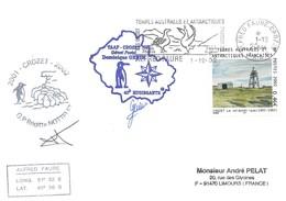 TAAF - Alfred Faure-Crozet: Lettre 39ème Mission Avec Timbre N°329 Téléphérique De Crozet + OMEC SECAP Du 01/12/2002 - Terres Australes Et Antarctiques Françaises (TAAF)