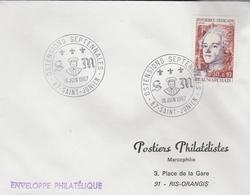 """LSC 1967 - SAINT JUNIEN - Cachet """"Ostensions Septennales"""" Sur YT 1512 - Marcophilie (Lettres)"""