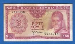50  Ngwee  1968  Signature 2 - Zambia