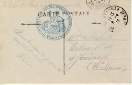 Cachet  Hôpital Temporaire NO 18- Montauban,17e Corps D'Armée - Cachets Généralité