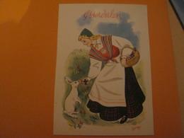 Norway -Norvège .ASTERDALEN .Femme Costume Folklore ,lapin - Norvège