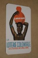 Ancienne Carte Parfumée Narcisse Bleu,publicitaire,loterie Coloniale,bel état De Collection - Publicités